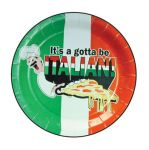 "9"" Plate "" It's Gotta Be Italian"" design 1000/case"