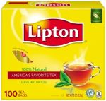 Lipton Tea Bags, Indiv. Wrapped 10/100 ct