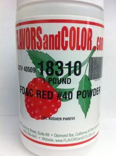 REDDYE001 Food Coloring Red Dye #40 - Candy